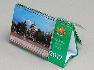 Печать настольных календарей, перекидные листы